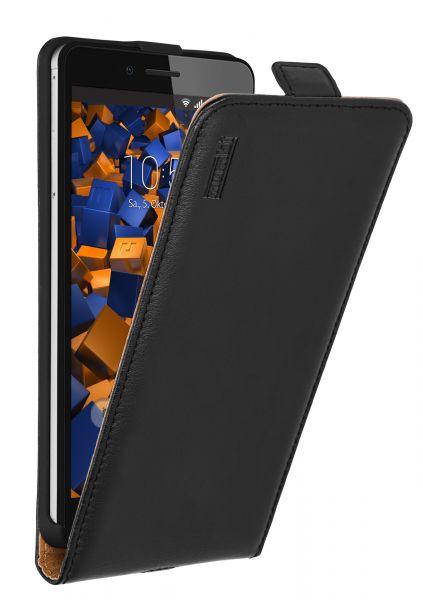 Flip Case Ledertasche schwarz für Huawei Honor 5X