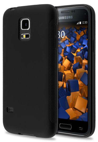 TPU Hülle double GRIP schwarz für Samsung Galaxy S5 mini