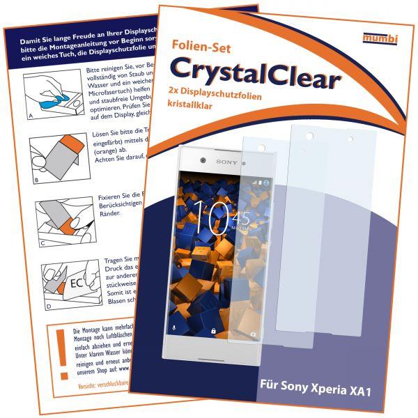 Displayschutzfolie 2 Stck. CrystalClear für Sony Xperia XA1
