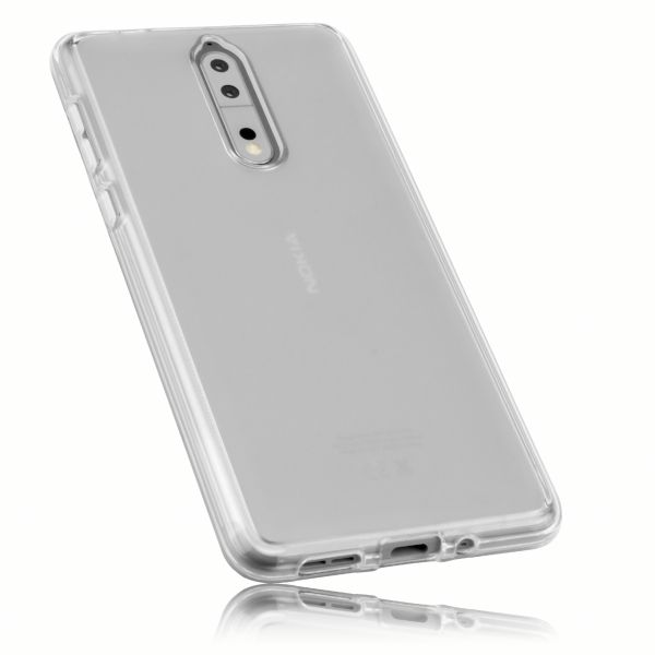 TPU Hülle weiß transparent für Nokia 8