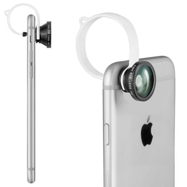Universeller 3-in-1 Kameralinsenaufsatz für Smartphone und Tablet
