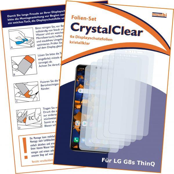 Displayschutzfolie 6 Stck. CrystalClear für LG G8s ThinQ