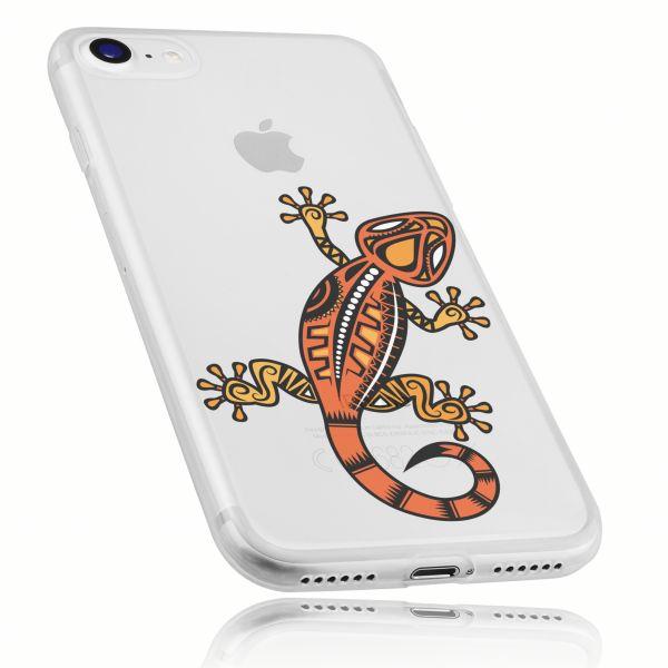 TPU Hülle Ultra Slim UV beständig transparent Motiv Gecko für Apple iPhone 8 / 7 / SE 2 (2020)