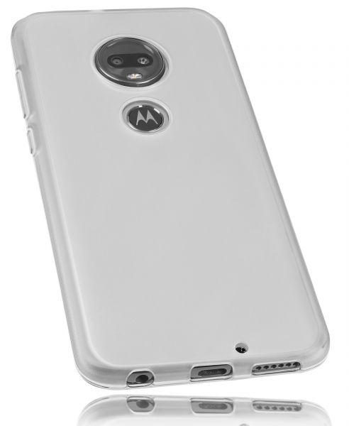 TPU Hülle weiß transparent für Motorola Moto G7 Plus