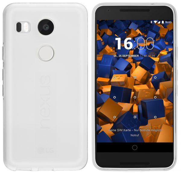 TPU Hülle weiß transparent für LG Google Nexus 5X