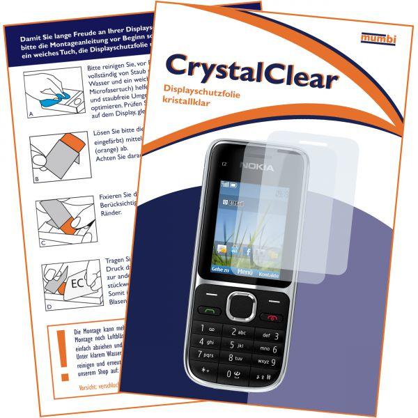 Displayschutzfolie 2 Stck. CrystalClear für Nokia C2-01