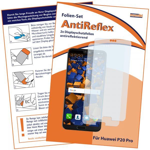 Displayschutzfolie 2 Stck. AntiReflex für Huawei P20 Pro