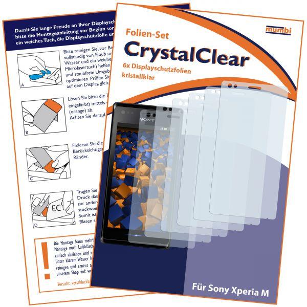 Displayschutzfolie 6 Stck. CrystalClear für Sony Xperia M