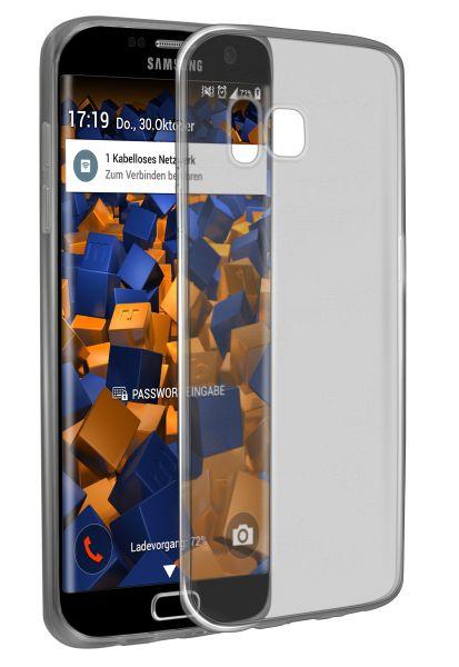TPU Hülle Ultra Slim schwarz transparent für Samsung Galaxy S7 Edge