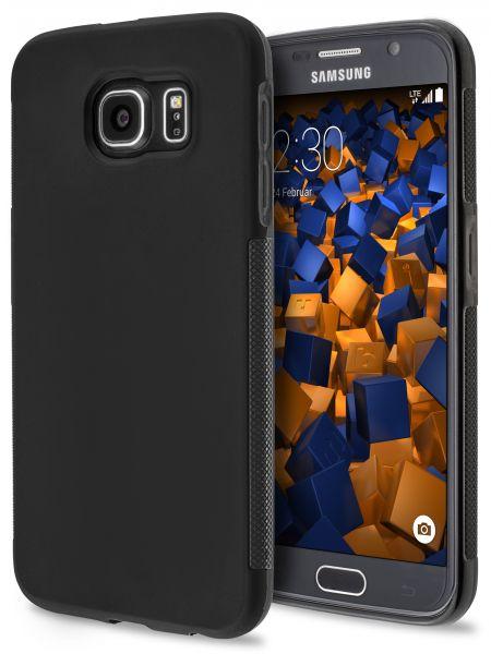 TPU Hülle double GRIP schwarz für Samsung Galaxy S6 Duos / Galaxy S6