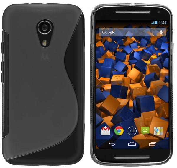 TPU Hülle S-Design schwarz transparent für Motorola Moto G 2. Generation