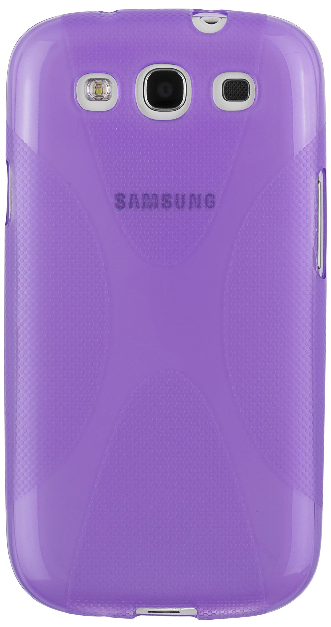 mumbi X-Design TPU Hülle lila transparent für Samsung ...