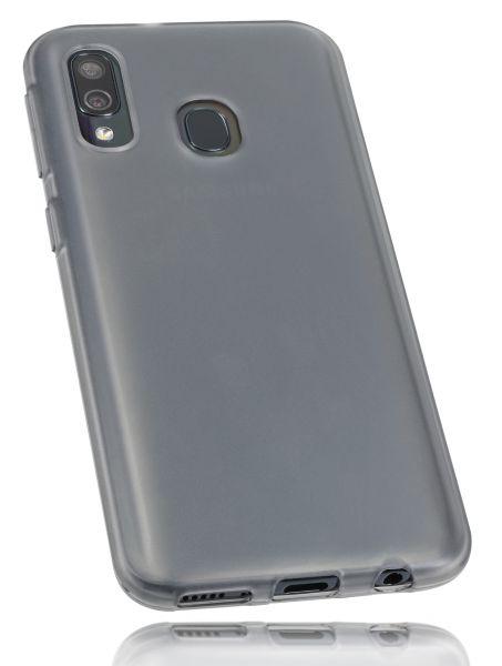 TPU Hülle schwarz transparent für Samsung Galaxy A40