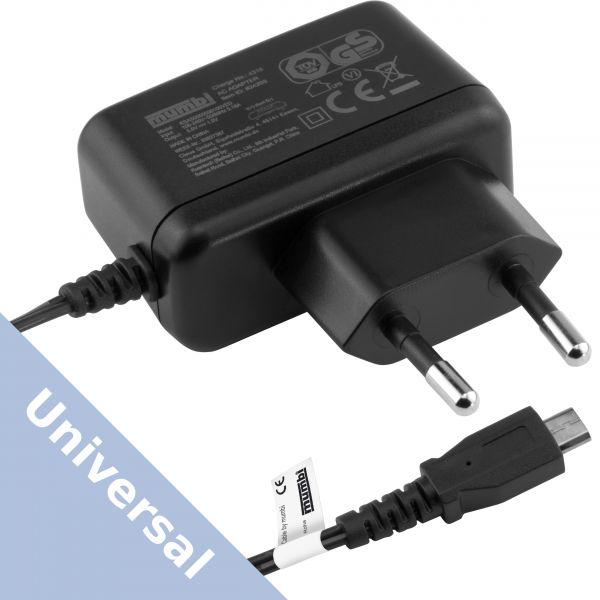Universal Ladegerät Steckernetzteil auf Micro USB 1000 mA schwarz