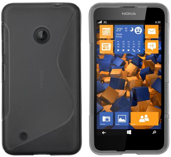 TPU Hülle S-Design schwarz transparent für Nokia Lumia 530