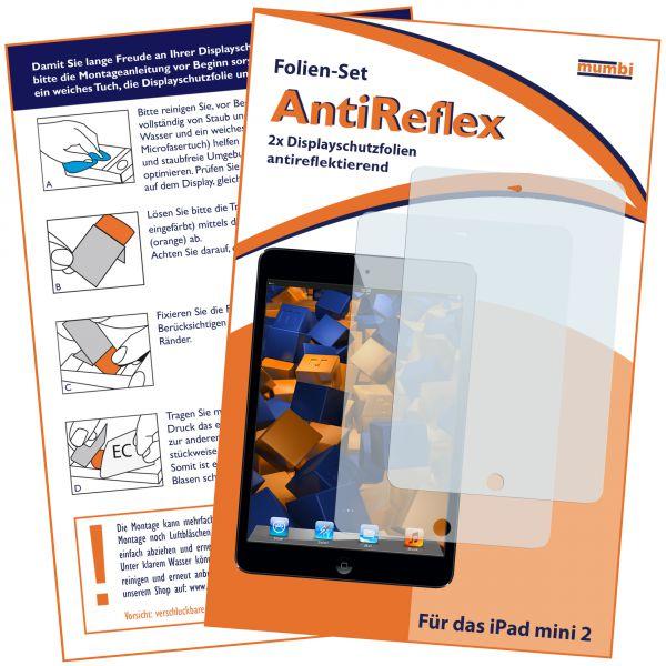 Displayschutzfolie 2 Stck. AntiReflex für Apple iPad mini / iPad Mini 2 / iPad Mini 3