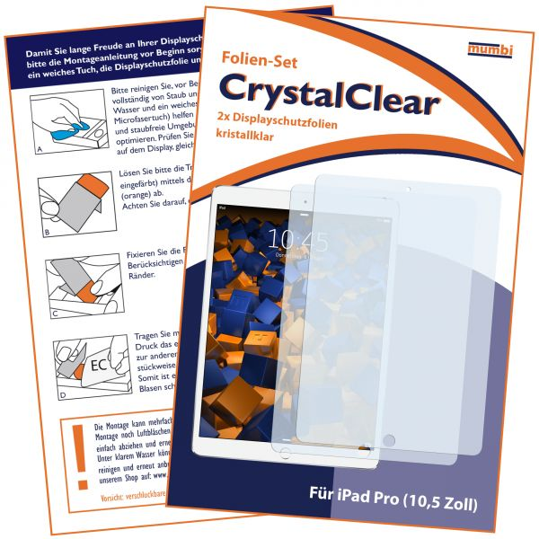 Displayschutzfolie 2 Stck. CrystalClear für Apple iPad Pro (10,5 Zoll)