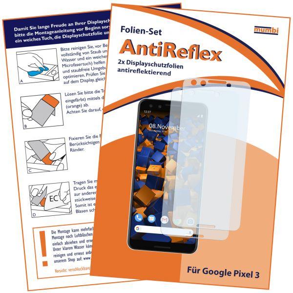 Displayschutzfolie 2 Stck. AntiReflex für Google Pixel 3