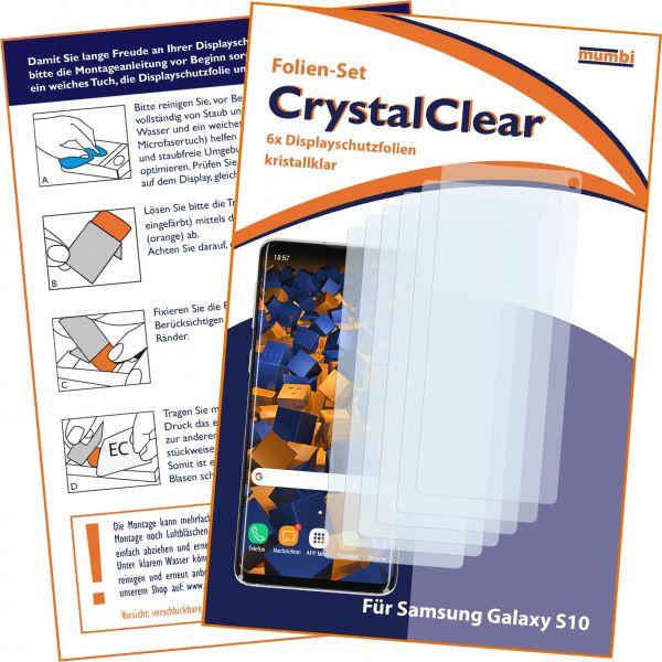 Displayschutzfolie 6 Stck. CrystalClear für Samsung Galaxy S10