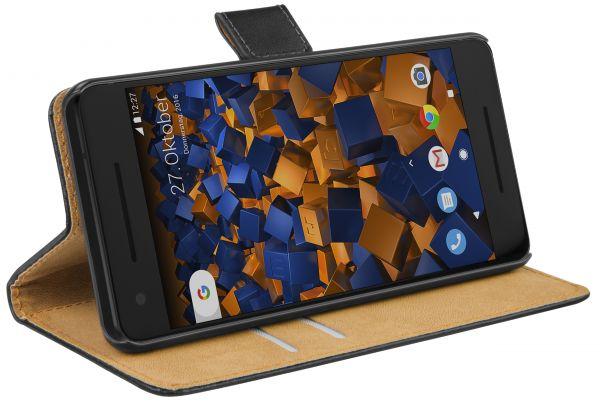 Bookstyle Tasche schwarz für Google Pixel 2