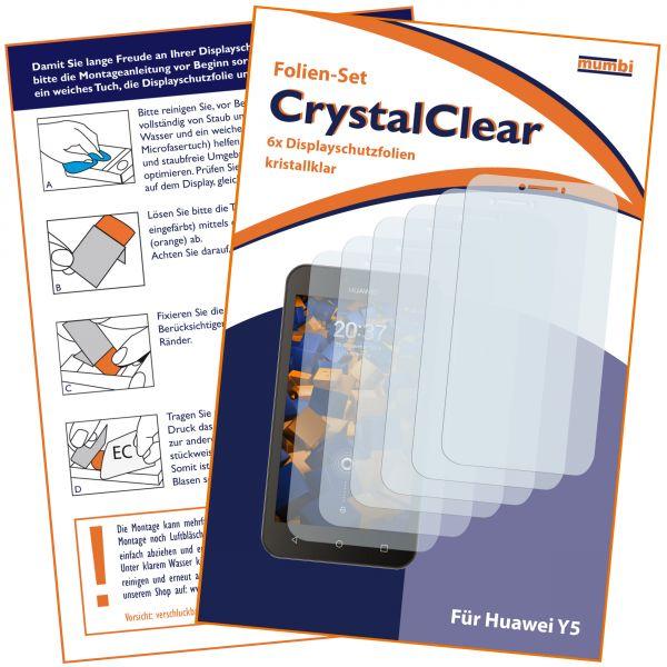 Displayschutzfolie 6 Stck. CrystalClear für Huawei Y5