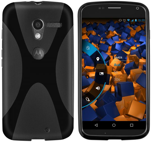 TPU Hülle X-Design schwarz für Motorola Moto X