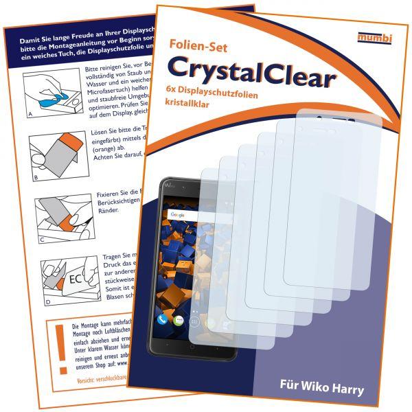 Displayschutzfolie 6 Stck. CrystalClear für Wiko Harry
