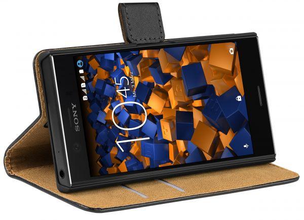 Bookstyle Tasche schwarz für Sony Xperia XZ1 Compact
