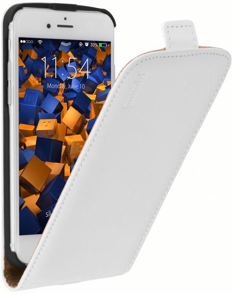 Flip Case Ledertasche weiß für Apple iPhone 6 / 6s