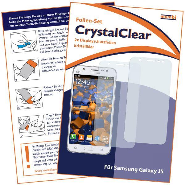 Displayschutzfolie 2 Stck. CrystalClear für Samsung Galaxy J5 (2015)