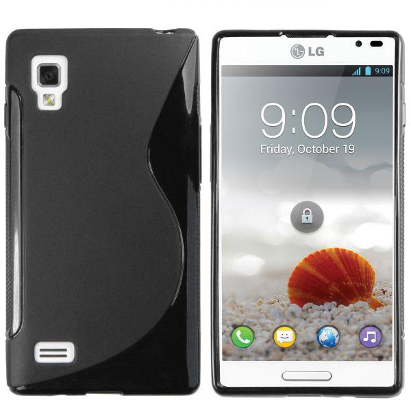 TPU Hülle S-Design schwarz für LG P760 Optimus L9