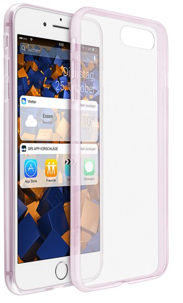 TPU Hülle Ultra Slim rosa transparent für Apple iPhone 8 Plus / 7 Plus