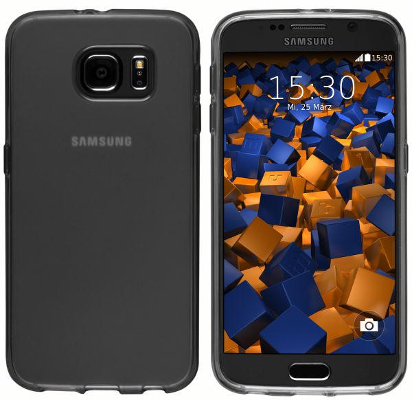 TPU Hülle (Slim - 1.2 mm) transparent schwarz für Samsung Galaxy S6 / S6 Duos