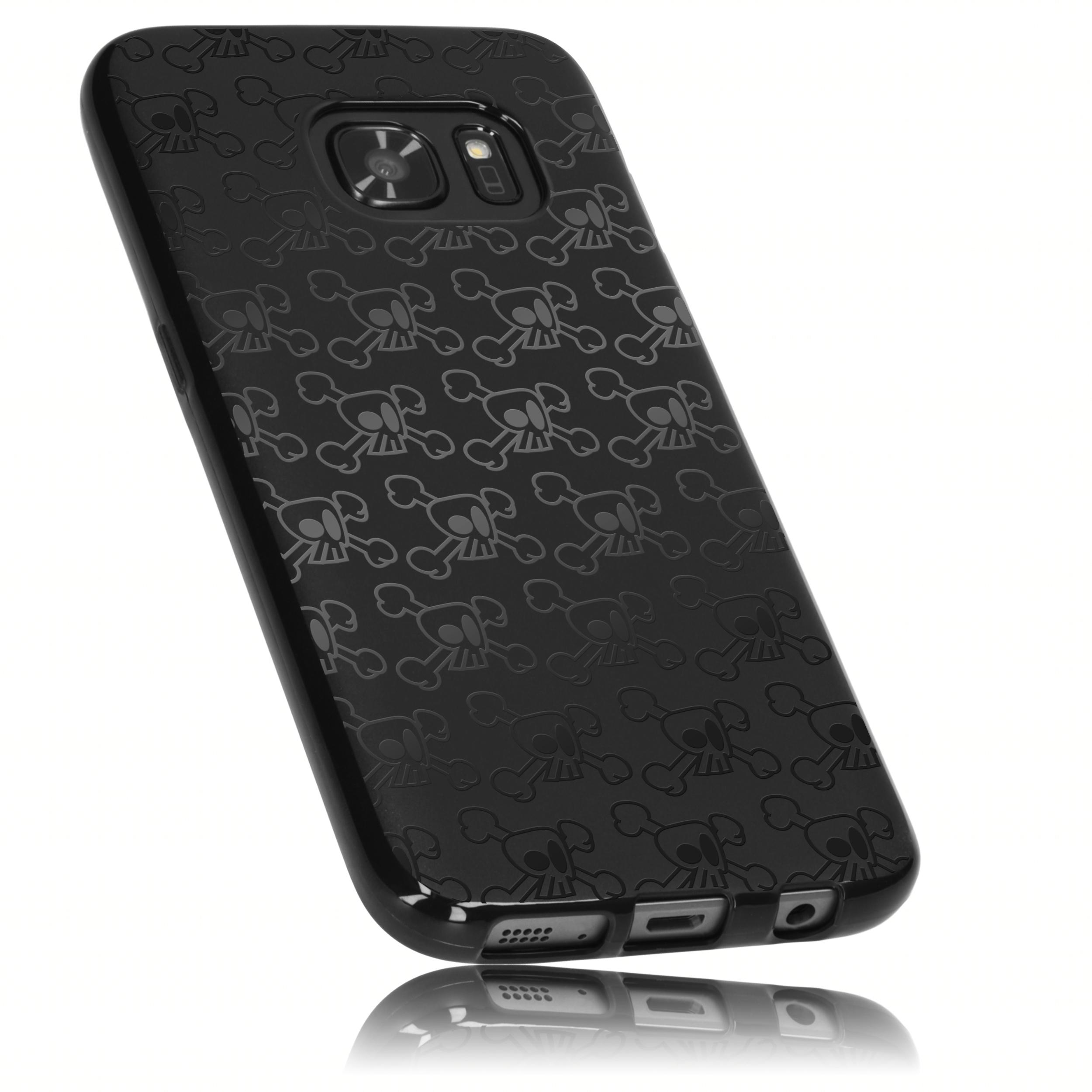 1 mumbi O1 Samsung Galaxy S7 TPU Case Totenkopf schwarz sw7kvw tj6MDp6