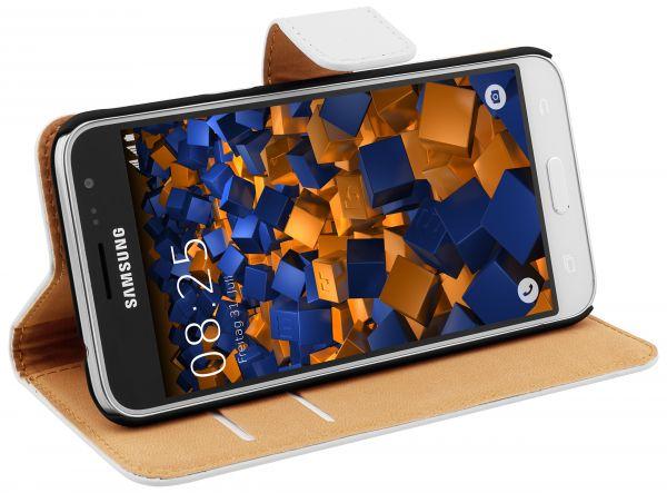 Bookstyle Tasche weiß für Samsung Galaxy J3 (2016)