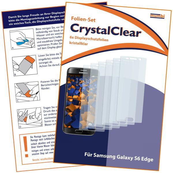 Displayschutzfolie 6 Stck. CrystalClear für Samsung Galaxy S6 Edge