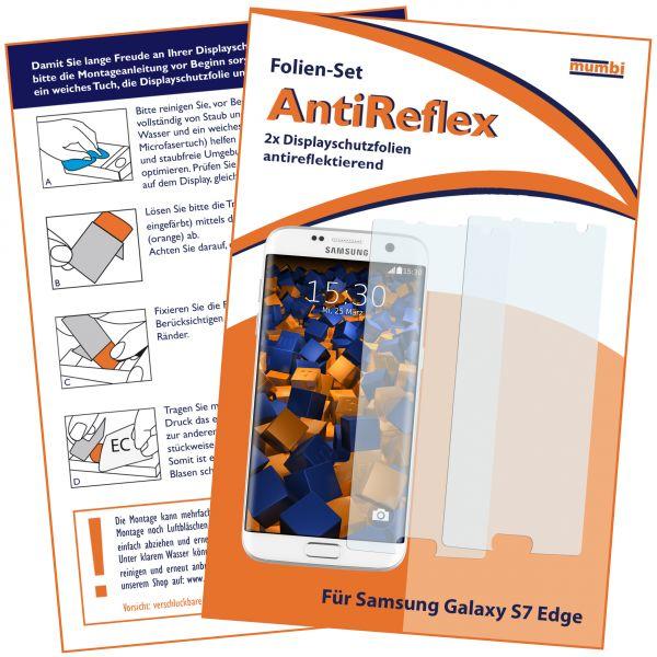 Displayschutzfolie 2 Stck. AntiReflex für Samsung Galaxy S7 Edge