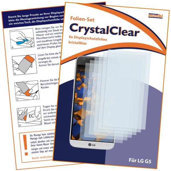 Displayschutzfolie 6 Stck. CrystalClear für LG G5