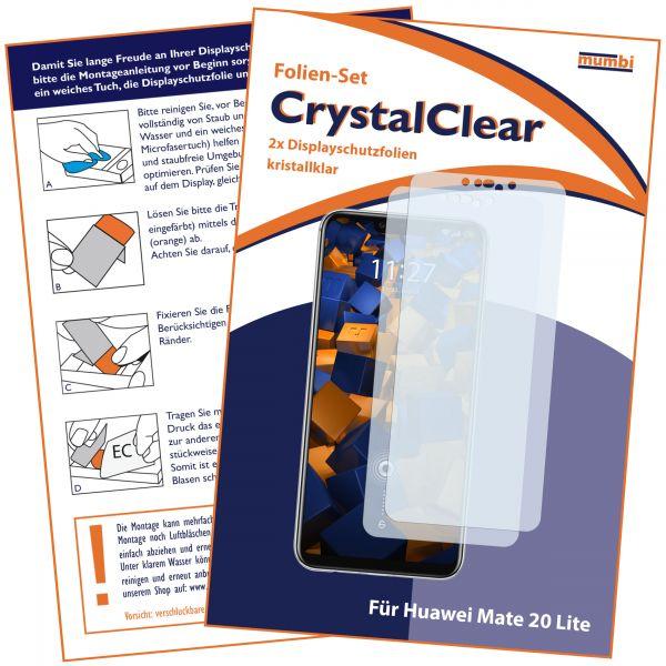 Displayschutzfolie 2 Stck. CrystalClear für Huawei Mate 20 Lite