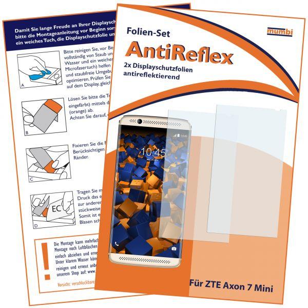 Displayschutzfolie 2 Stck. AntiReflex für ZTE Axon 7 Mini