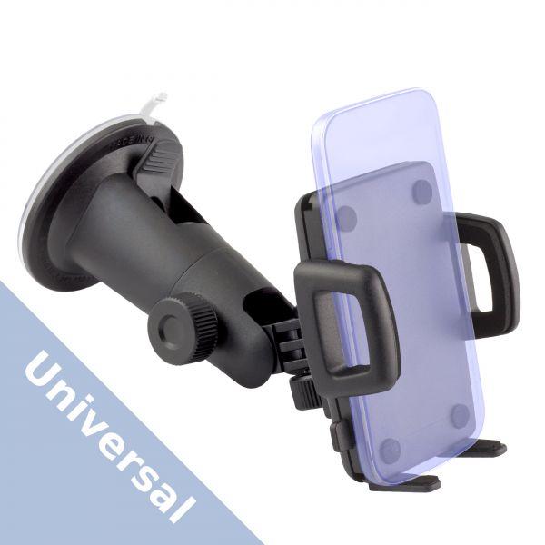 Universal KFZ Handyhalterung (2 Stellschrauben und Saugeradapter)