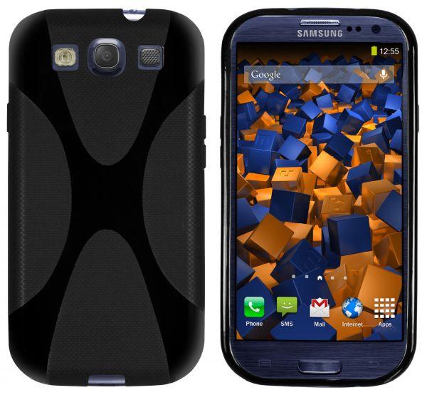 TPU Hülle X-Design schwarz für Samsung Galaxy S3 / S3 Neo