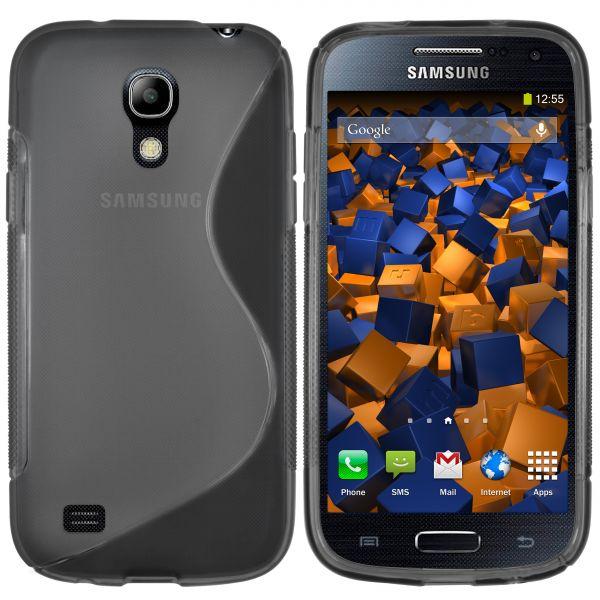 TPU Hülle S-Design schwarz transparent für Samsung Galaxy S4 mini