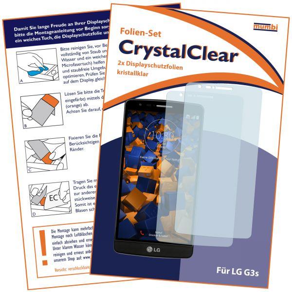 Displayschutzfolie 2 Stck. CrystalClear für LG G3s