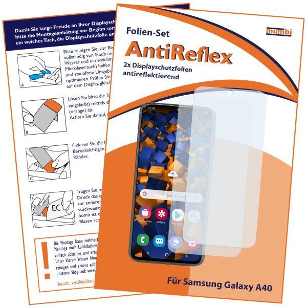 Displayschutzfolie 2 Stck. AntiReflex für Samsung Galaxy A40