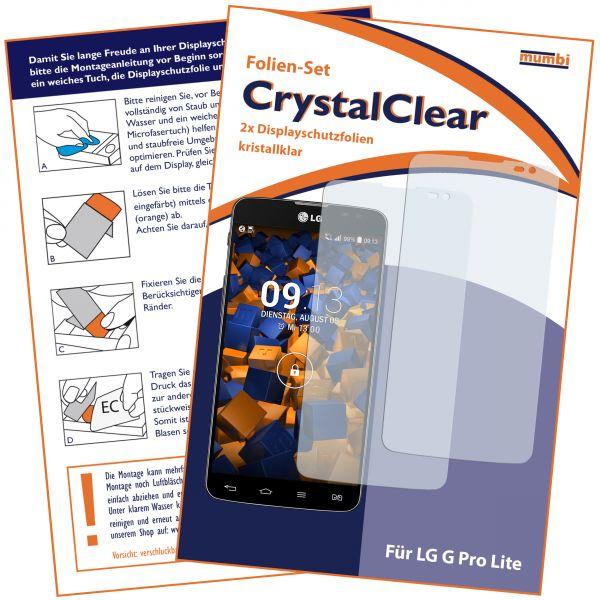 Displayschutzfolie 2 Stck. CrystalClear für LG G Pro Lite Dual
