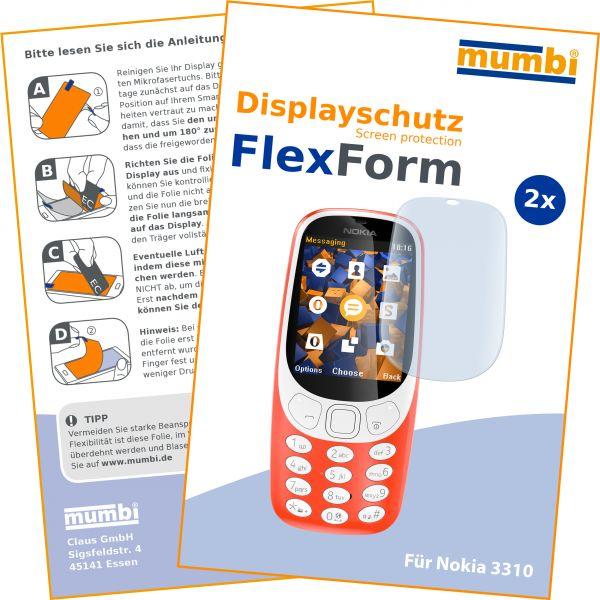 Displayschutzfolie 2 Stck. FlexForm für Nokia 3310