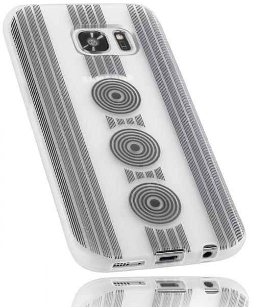 TPU Hülle weiß transparent Motiv Kreise für Samsung Galaxy S7
