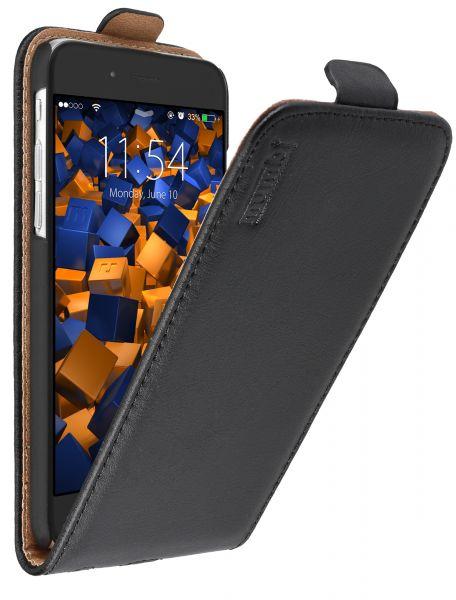 Flip Case Ledertasche schwarz für Apple iPhone 6 / 6s