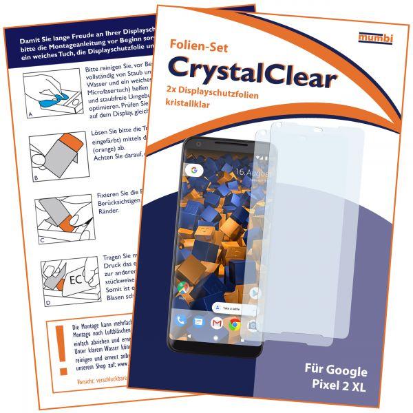 Displayschutzfolie 2 Stck. CrystalClear für Google Pixel 2 XL